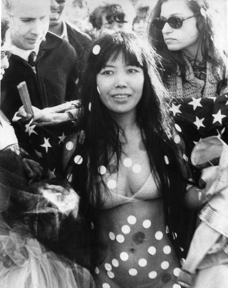 Yayoi Kusama at Love-In-Festival in Central Park (1968), New York.