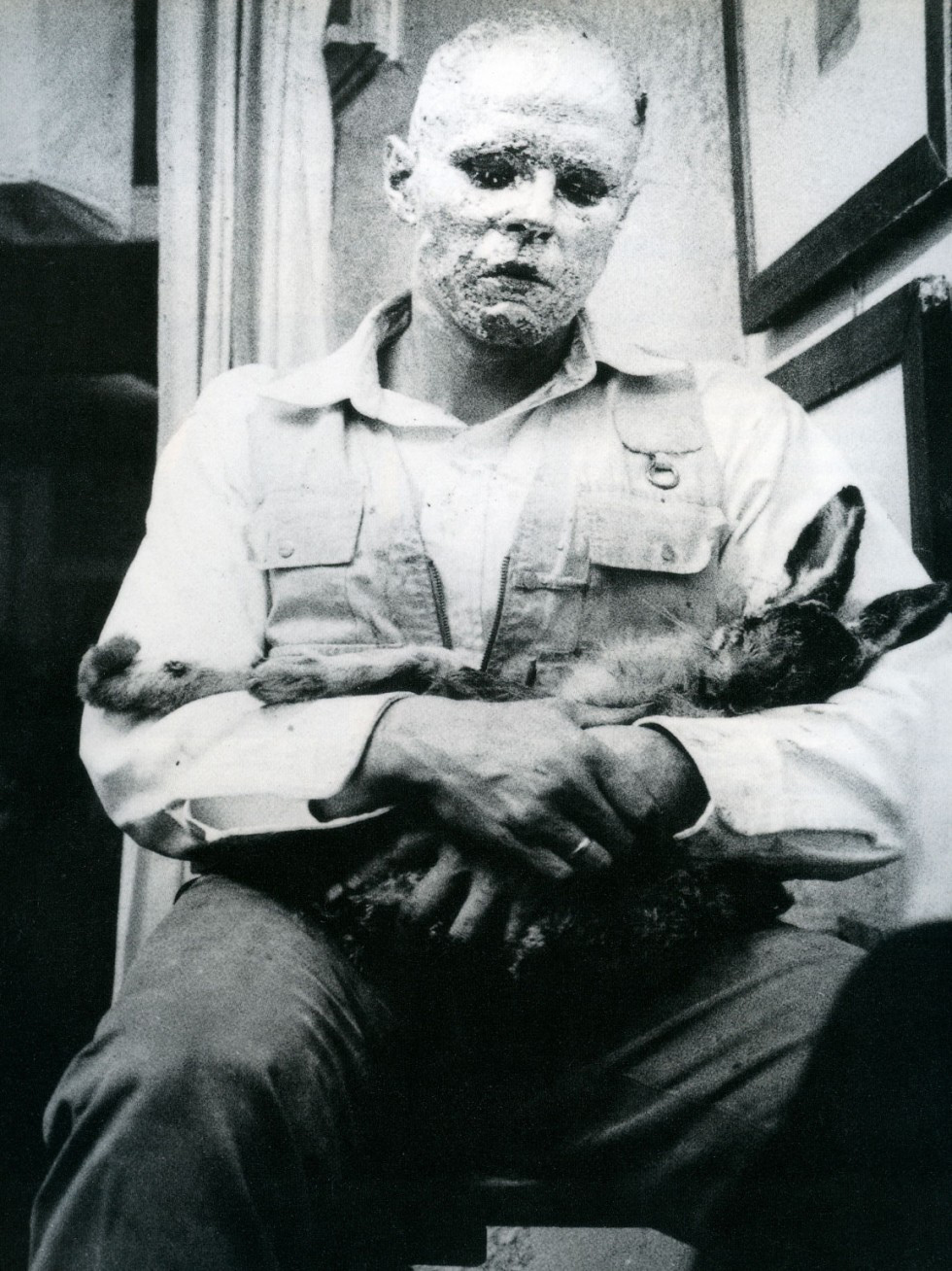 A shamanic performance by Joseph Beuys