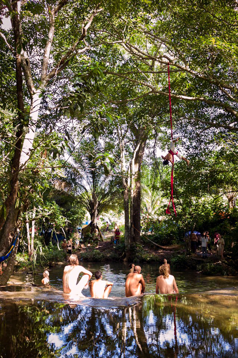 The stream surrounding the Rainbow Gathering, Mexico.