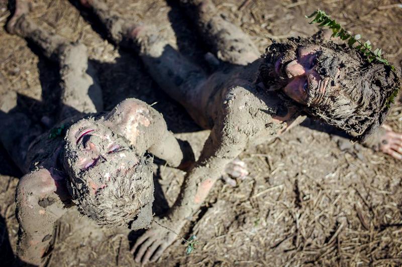 Mud rituals.