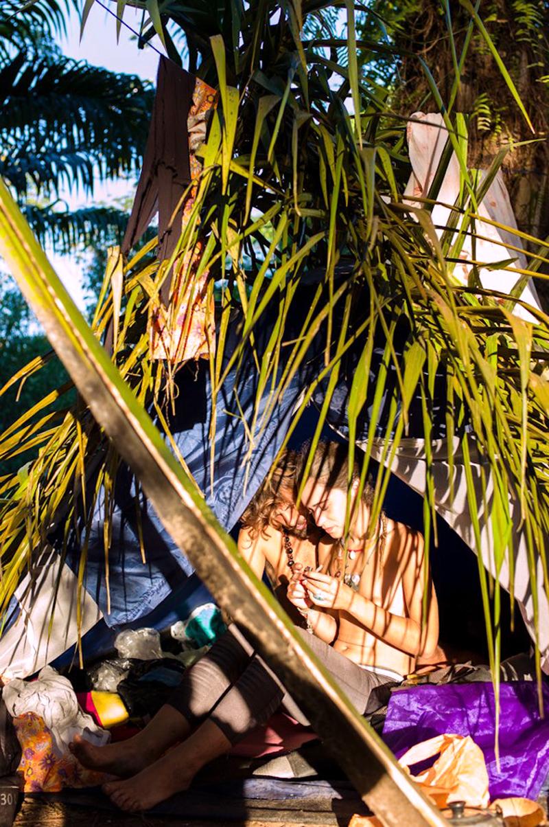 Eva Del Moral in the jungle.