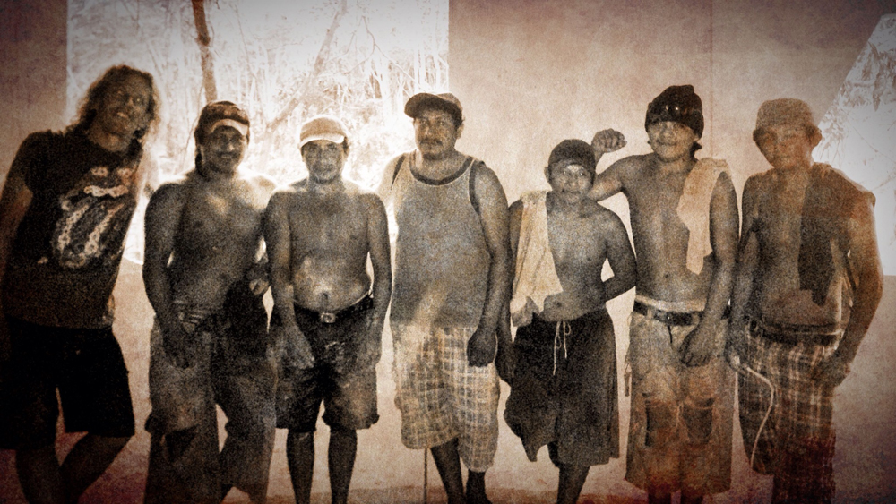 Nik, a shaman from New Zealand and the amazing Mayan workforce and friends working at the Lemurian Embassy.