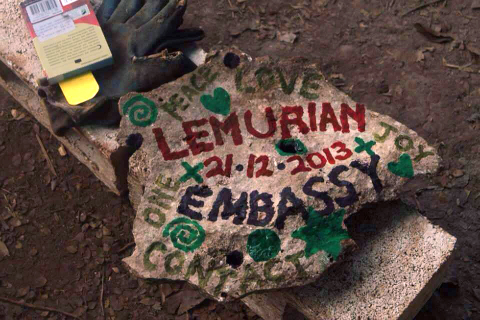 Lemurian Time Capsule. We buried this stone tablet inside the main healing fire pit during the first fire. Its purpose is to stream a powerful code of love and high vibration so by consciously planting it, it will power up the engine for many years ahead.
