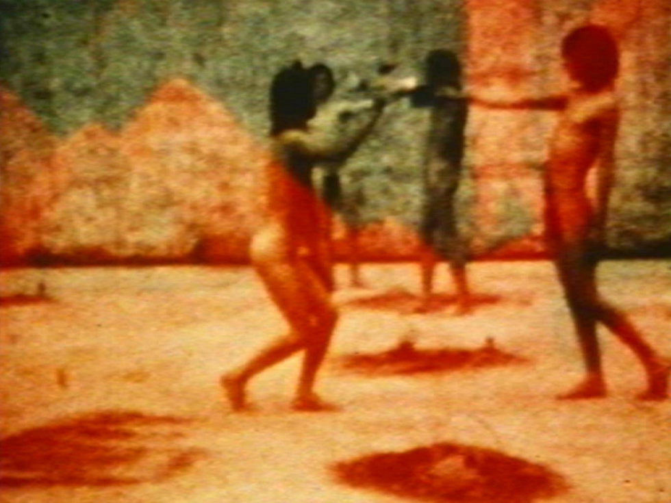 A still from In The Shadow Of The Sun (1972-74) A film by Derek Jarman. Silent, Colour, Super 8, 54 mins.