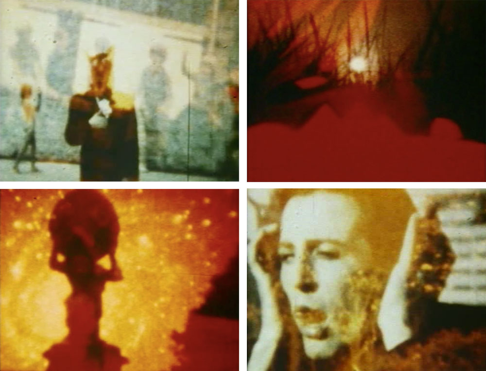Stills from In The Shadow Of The Sun (1972-74) A film by Derek Jarman. Silent, Colour, Super 8, 54 mins.