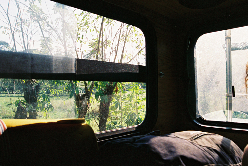 Inside the van of our friend Garett, from San Francisco, on the way to the Gathering.