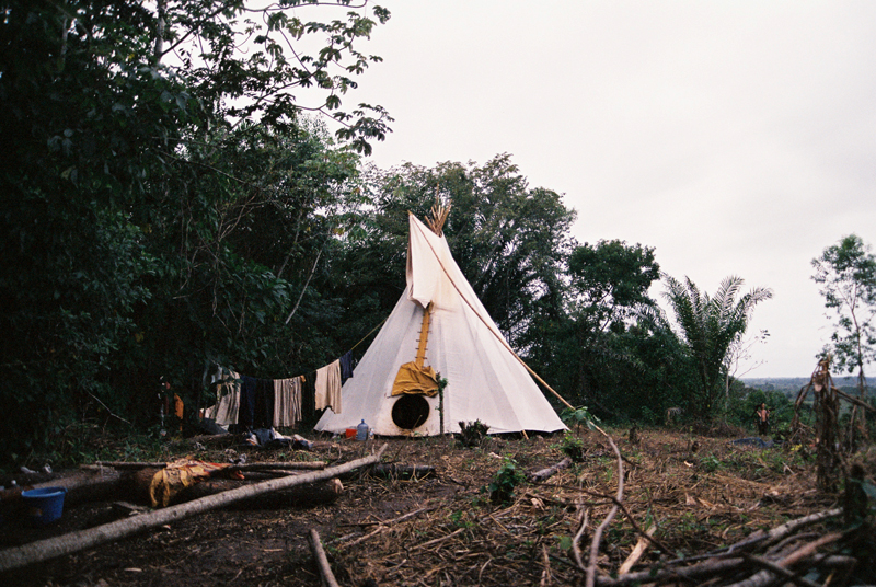 Tipis near Coffee Mountain.