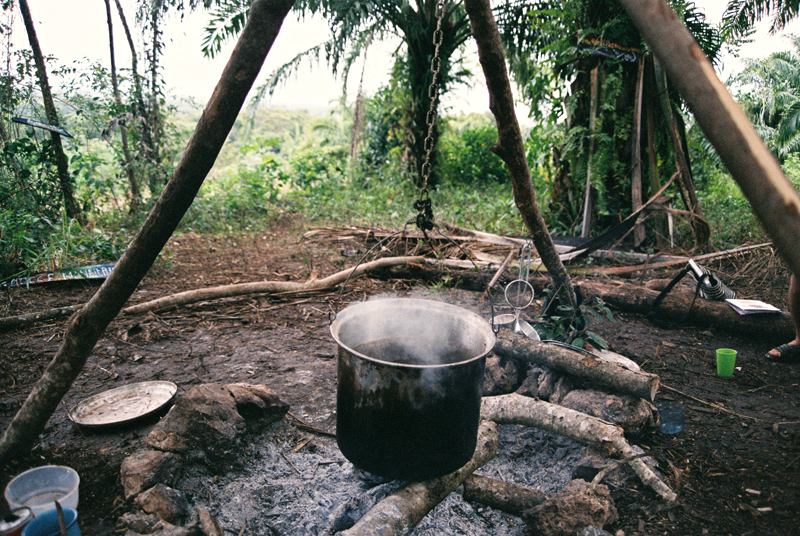 Brewing some coffee at Coffee Mountain following the apocalyptic rain on 21 December.