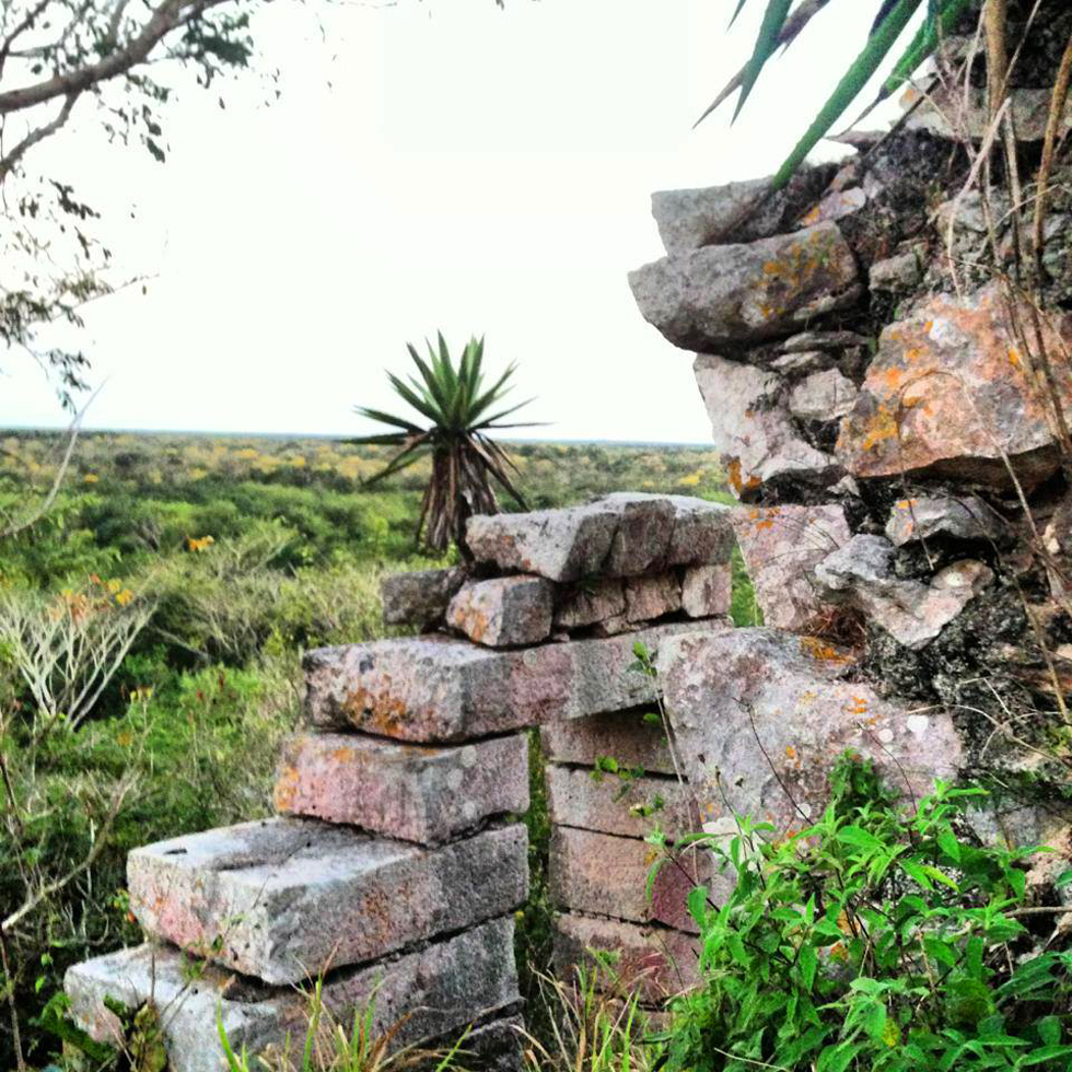Another view on Ikil Pyramid, part of the ancient Mayan ruins surrounding the Lemurian Embassy.