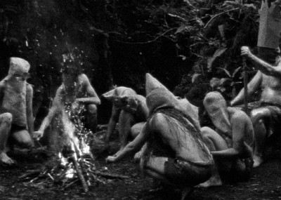 A still from Slow Action (2010) A film by Ben Rivers. Colour, Black and White, 16mm anamorphic, 45 mins.