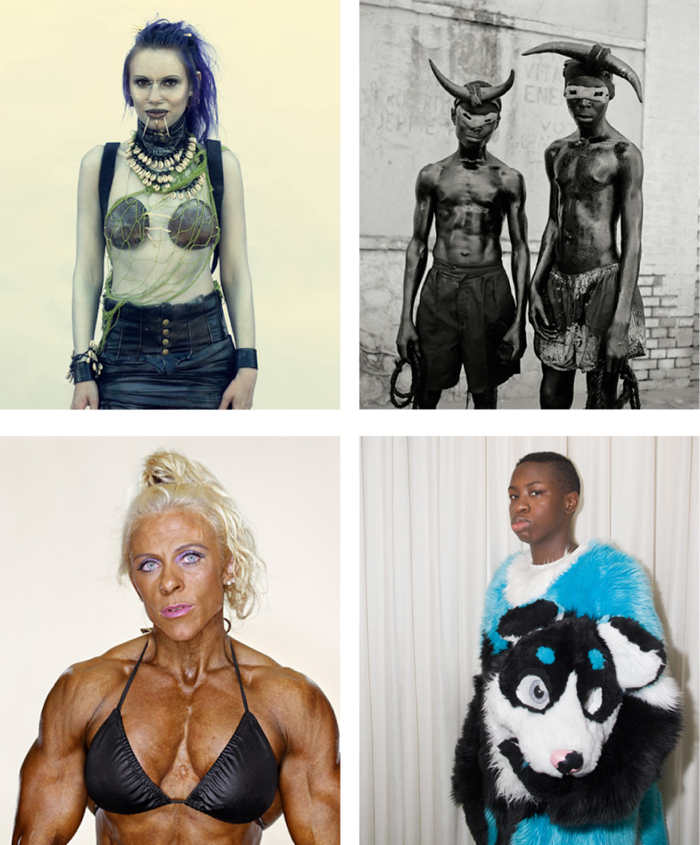 From left to right, photographs by: Nick Ray McCann, Leah Gordon, Martin Schoeller, Peter Bohler.