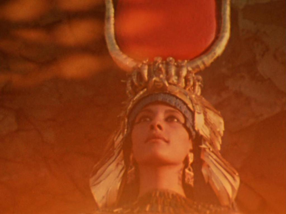 Isis (Egyptian Goddess of Magic and Life, portrayed by Myriam Gibril ). A still from Lucifer Rising (1966-1980), a film by Kenneth Anger. Colour, 16mm, 28mins.
