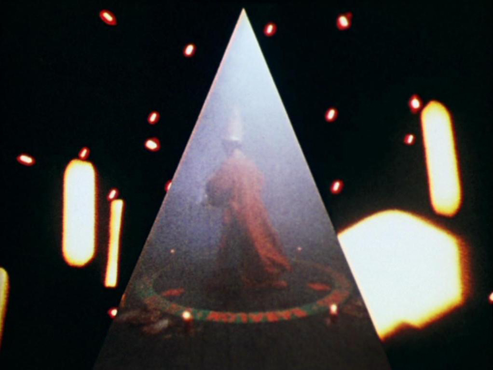 The Magus (Kenneth Anger) in ritual and magick. A still from Lucifer Rising (1966-1980), a film by Kenneth Anger. Colour, 16mm, 28mins.