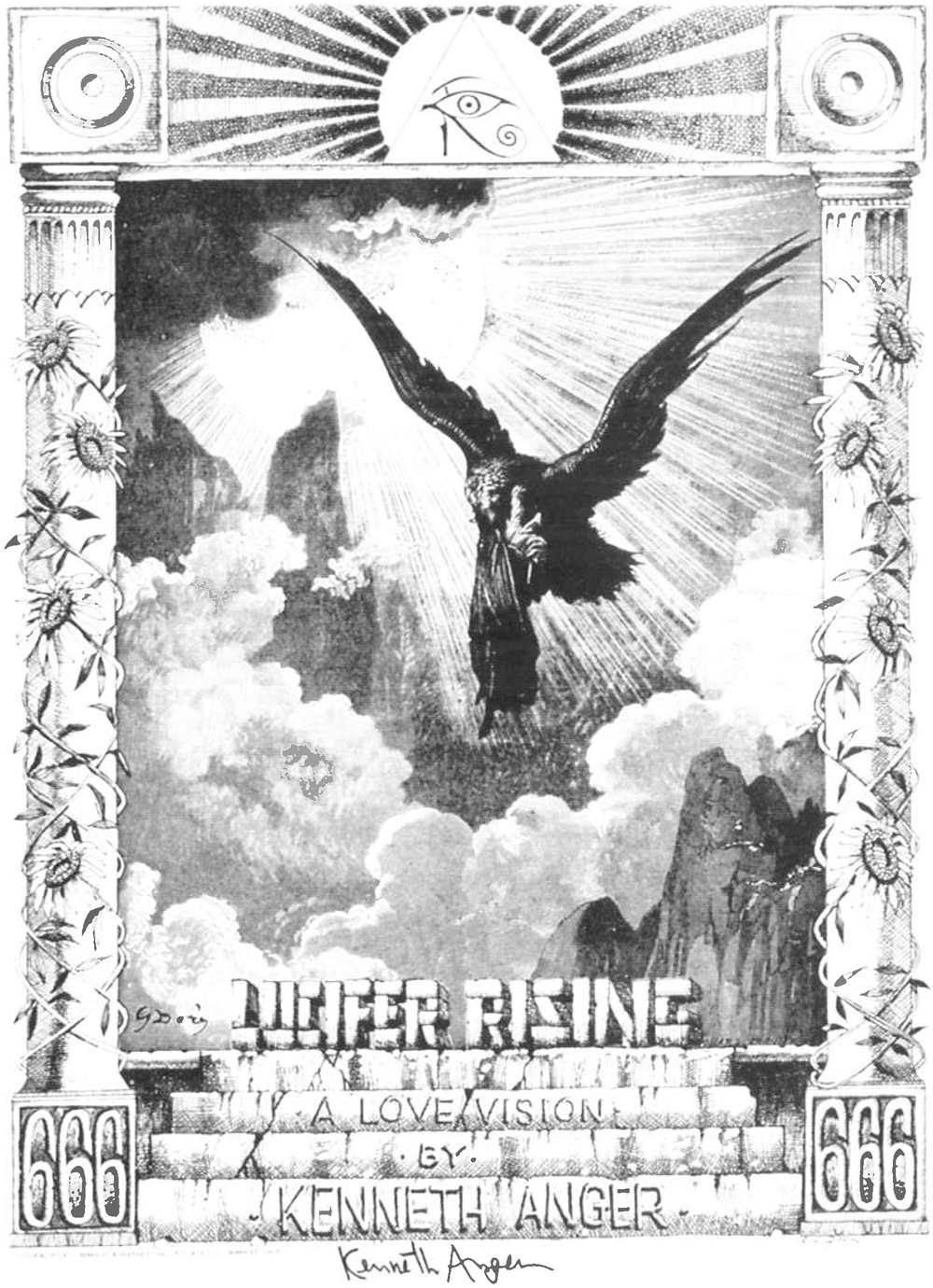 A LOVE VISION - A film poster for Lucifer Rising by Kenneth Anger designed by Rick Griffin