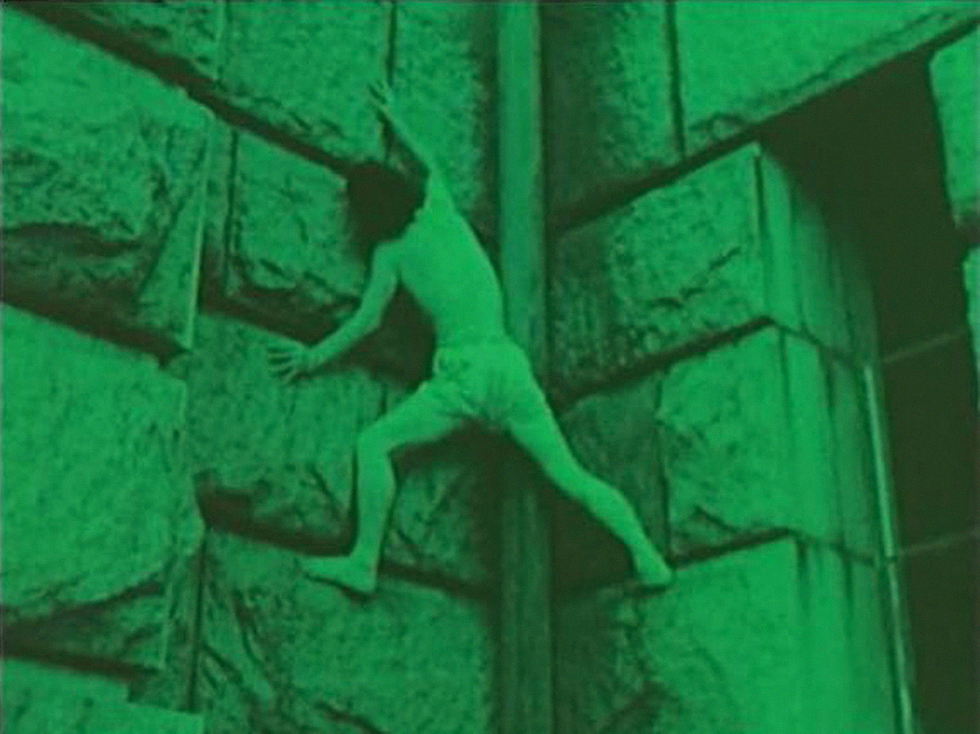 A still from Ori / The Cage (1962-69) Directed and written by Shuji Terayama. Colour, Silent, 16mm. 11mins.