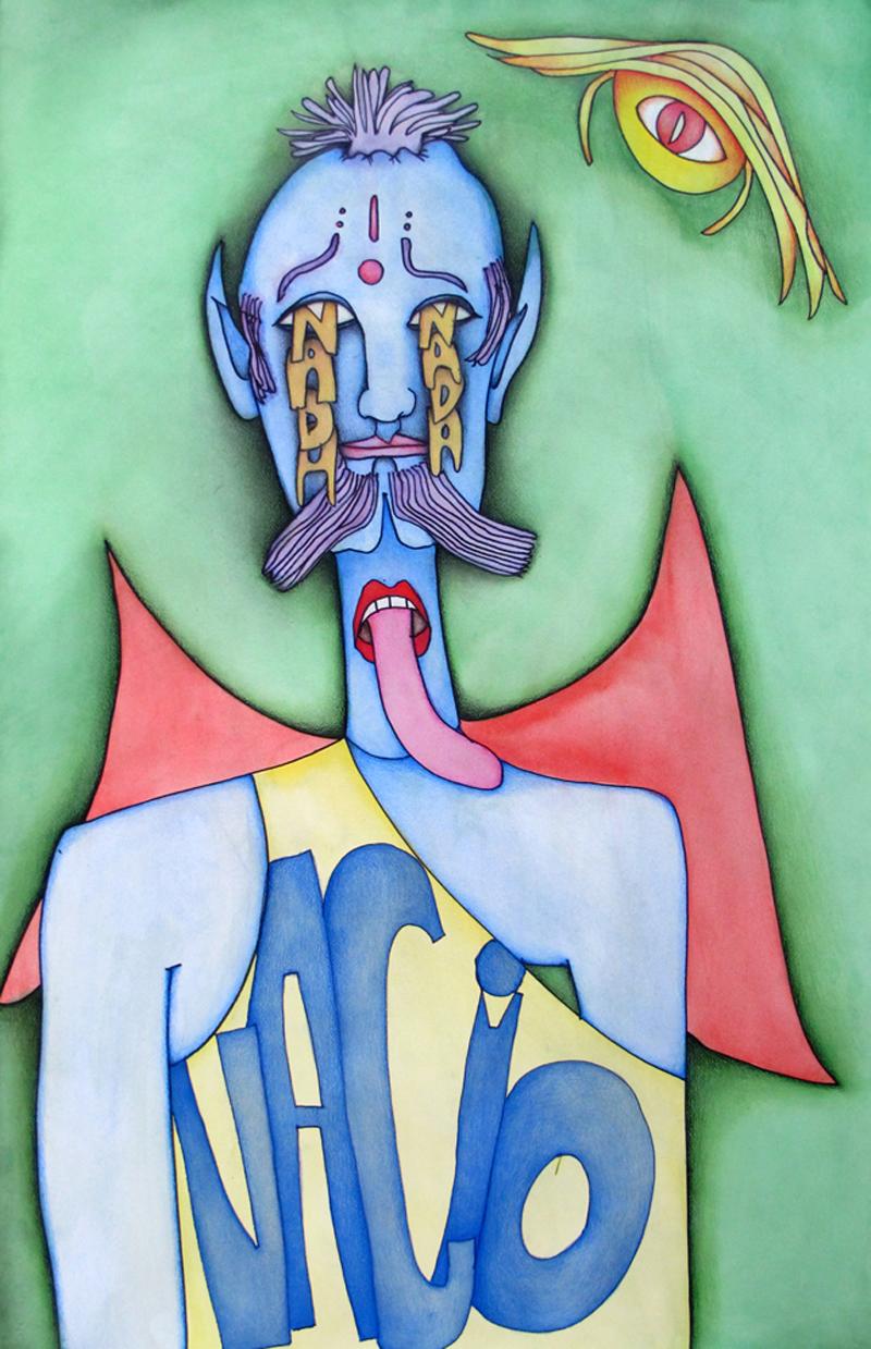 Vacio vide (2012) Mixed on paper by Alejandro Jodorowksy and Pascale Montandon. 102 x 65 cm