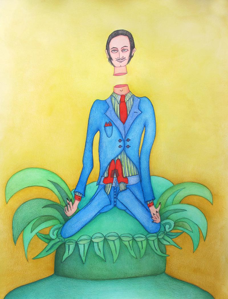 Aristo - Yoga (2014) Mixed on paper by Alejandro Jodorowksy and Pascale Montandon. 65 x 50 cm