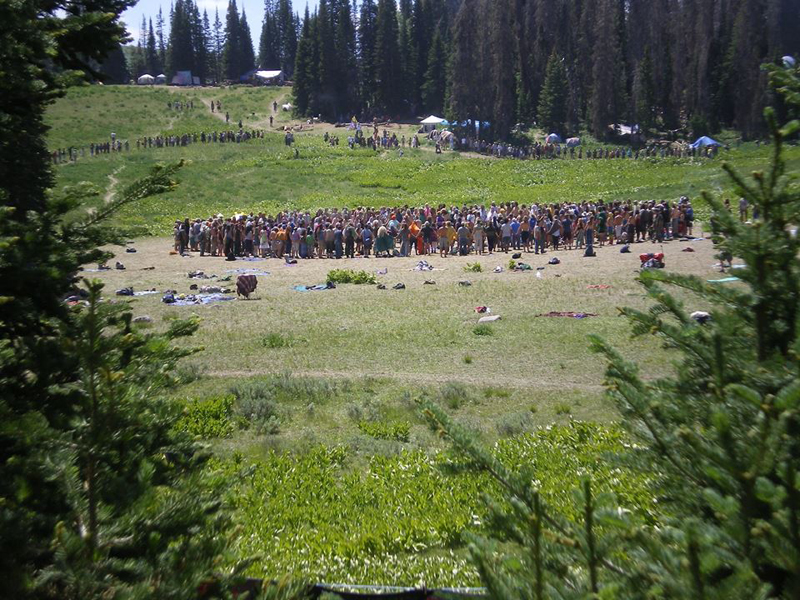 Noon circle on 4th July 2014 in the Uinta Mountains, Utah. Photo Jake Wirth.