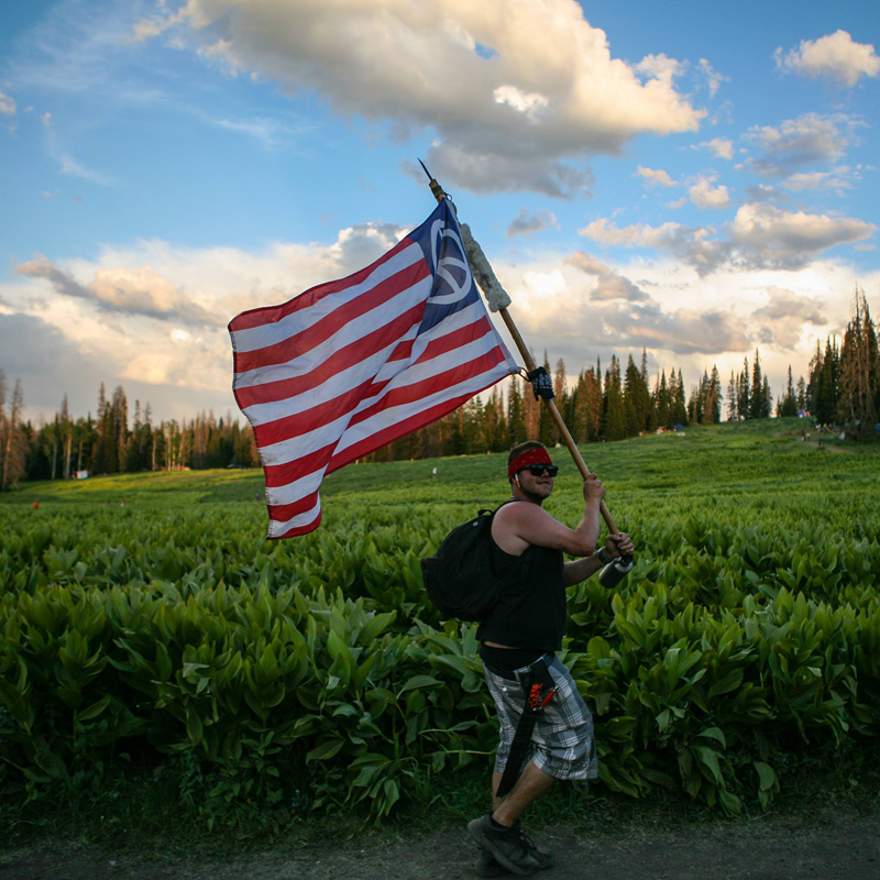 A Rainbow take on the American flag, Uinta Forest, Utah. Photo Tyler Coleman.