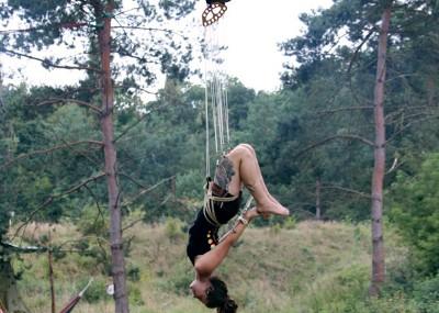 Helena during her suspension. Photo Martin Villiam Jensen.