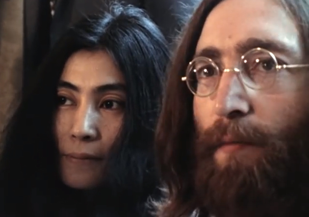 A still from BED PEACE (1969) A film by Yoko Ono and John Lennon. Colour, Sound, 70 mins.
