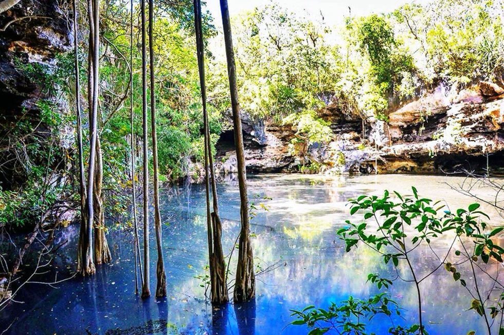 Cenote Xtojil - only 5km from the Lemurian Embassy.