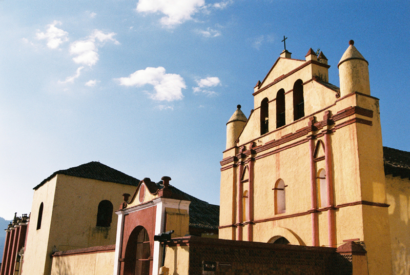 The church on the Zocalo in the centre of San Cristobal de las Casas.