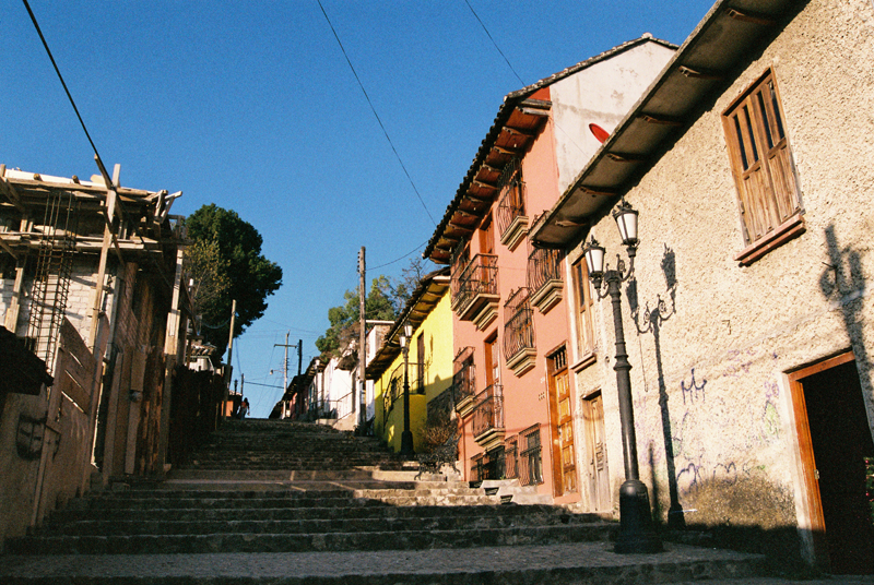 A view on the stairs towards Casa Libertad.