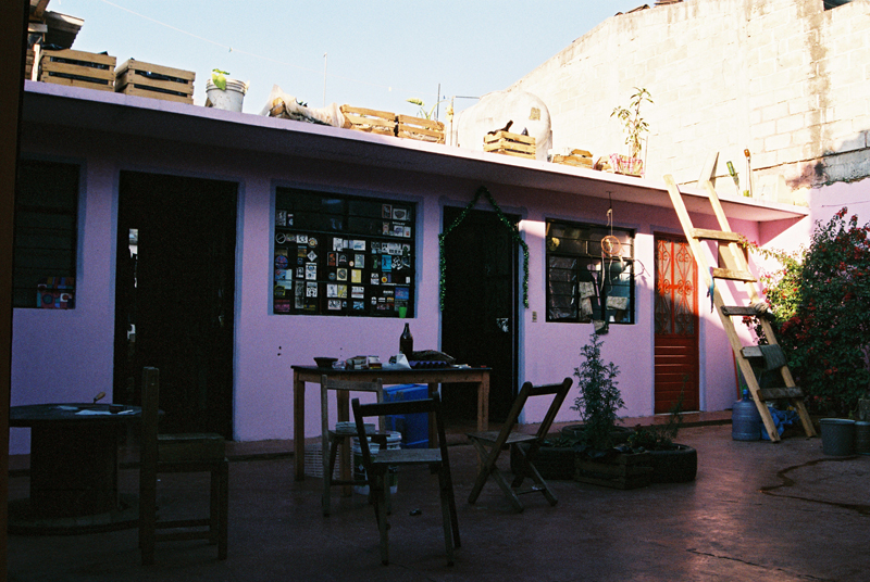 The courtyard of Casa Libertad.