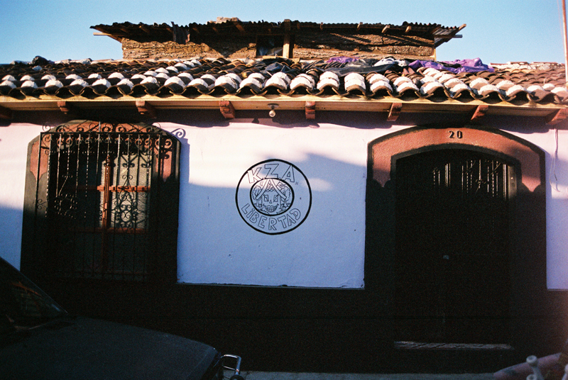 Casa Libertad as seen from the street.