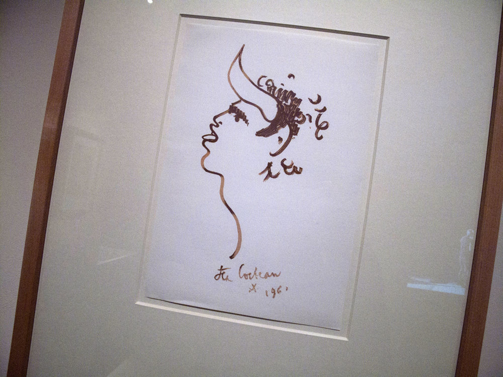 Homme toro de profil (Profile of a Toro man) (1961) A work on paper by Jean Cocteau. 30 x 21 cm.