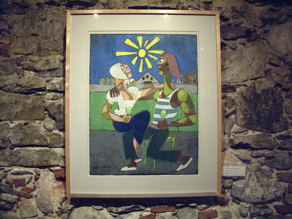 Pêcheur et jeune fille en train de boire (Fisher and young girl drinking) (1961) A work on paper by Jean Cocteau. 65 cm x 50 cm.