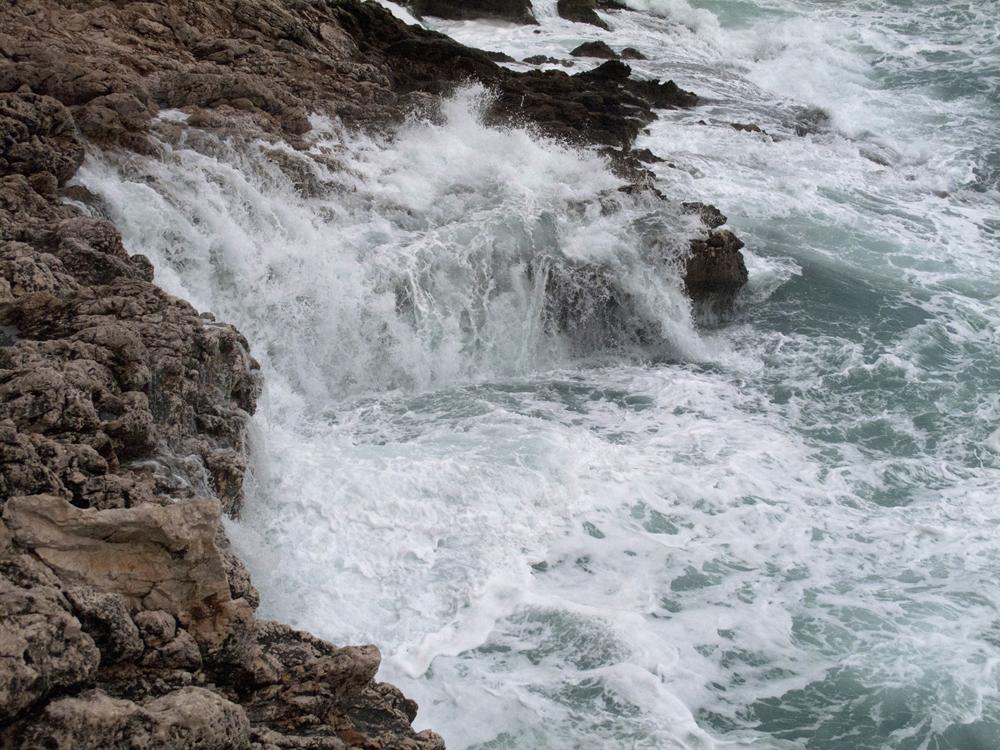 The powerful Mediterranean sea.