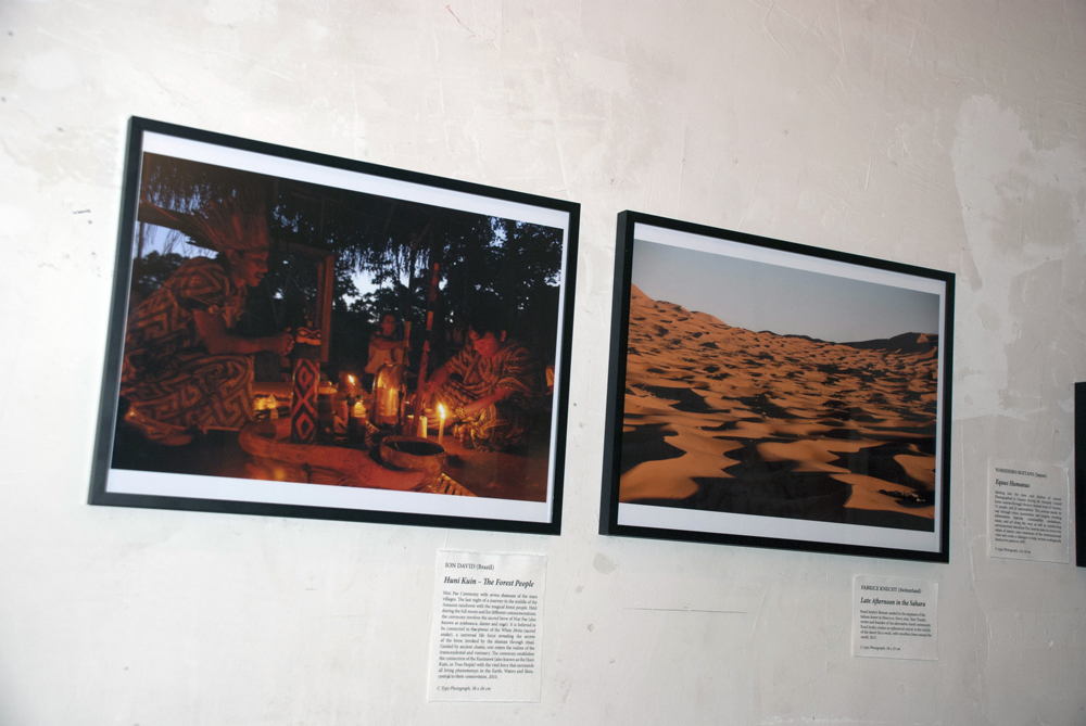 Huni Kuin - The Forest People (2010) by Ion David alongside Late Afternoon in the Sahara (2013) by Fabrice Knecht.