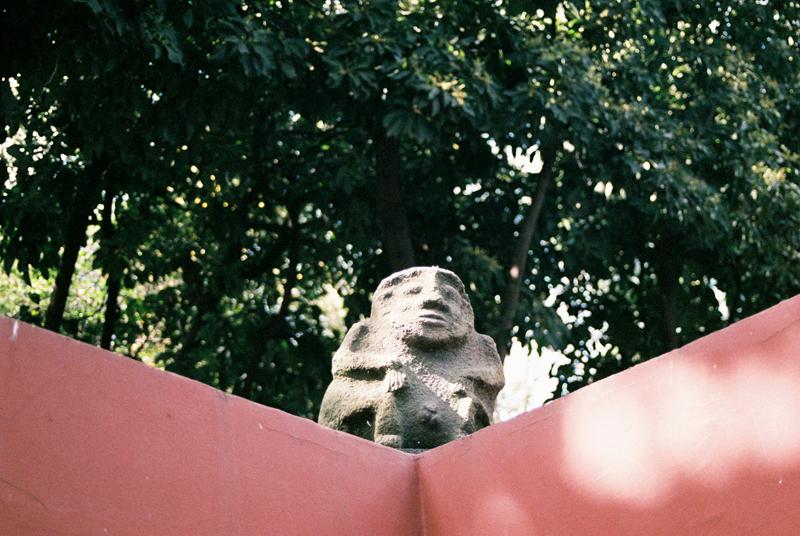 Pre-Hispanic statues.