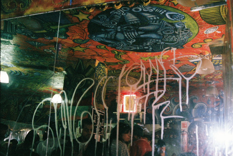 Graffiti inside Las Duelistas.