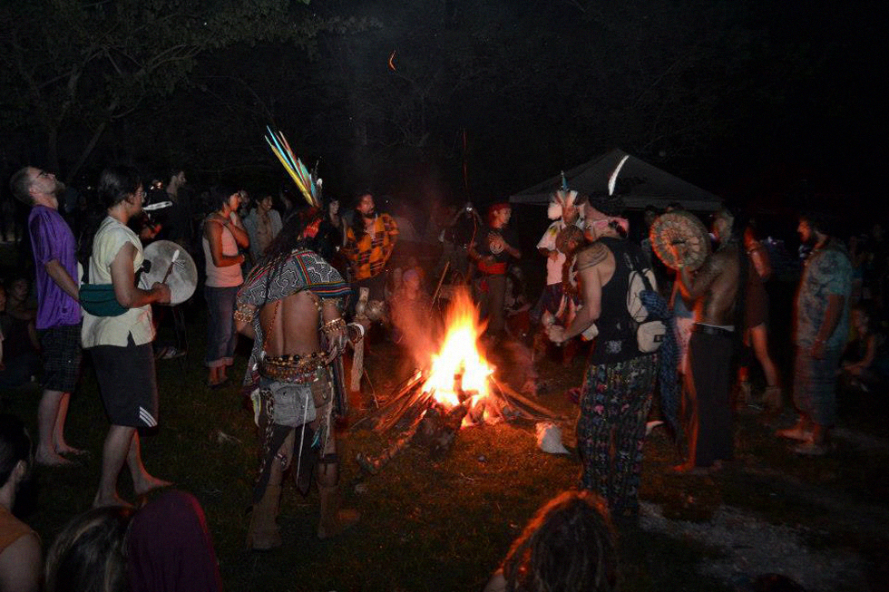 Convergence of Spirits at the Sacred Fire.