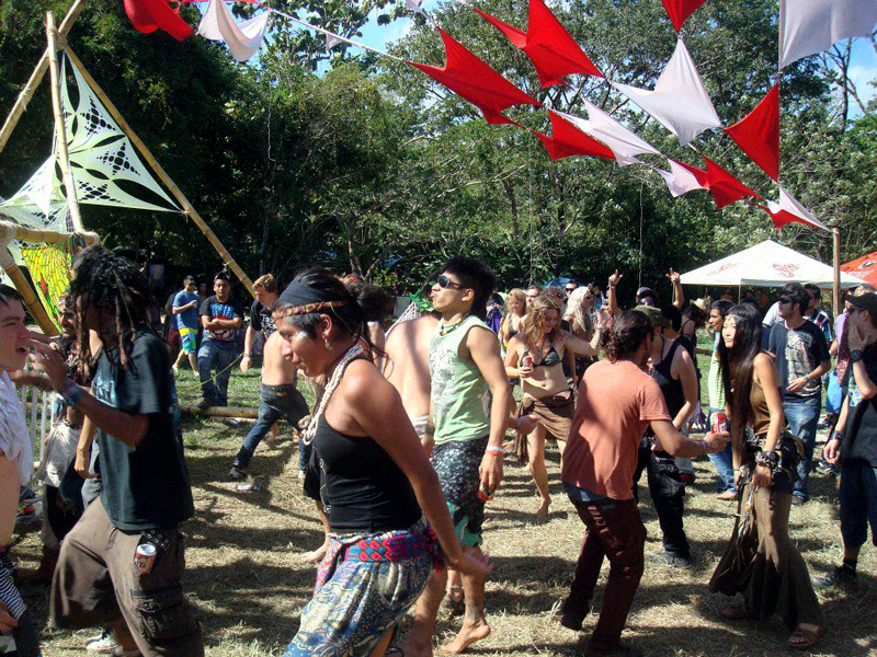 Day time Trance at the Popol Vuh Festival.