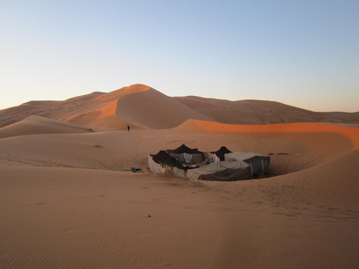 The Road Junky canopy in the dunes of the Sahara. Photo by Tom Thumb.