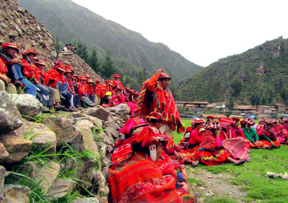 Gathering in Ollantaytambo- Qosqo, Peru.