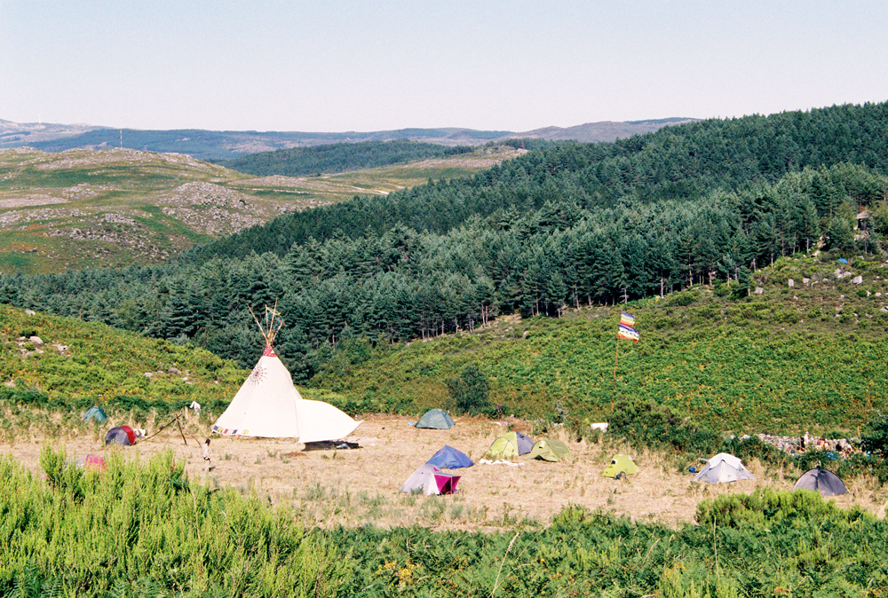 Another view on the tipi homes near the main circle.