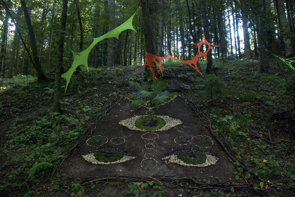 A view on The Third Eye - land art by the Transylvania Calling crew.