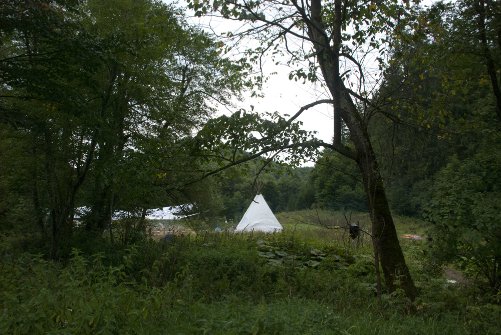 Tipi in the I Am Village area.