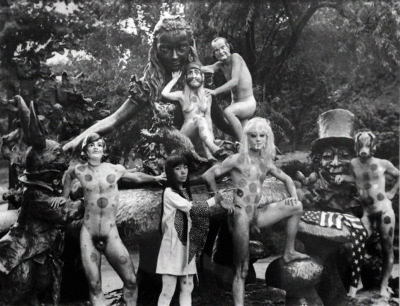 Kasuma' s Nude Body Painting ' Happenings' in Central Park.