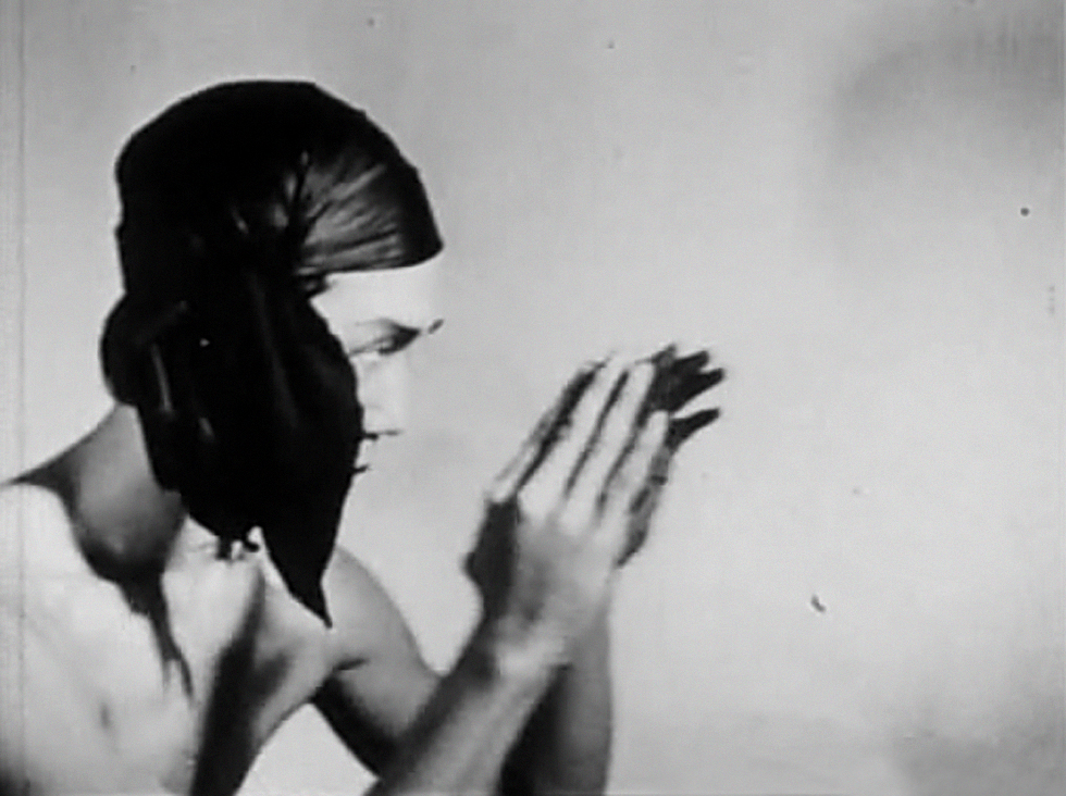 A still from Meditation on Violence (1948) a film by Maya Deren. Black and white, 16mm, 15mins.