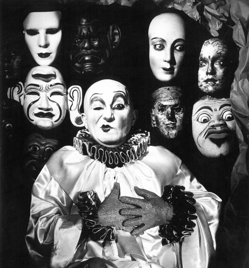 UNTITLED (Clown with Masks), 1982.