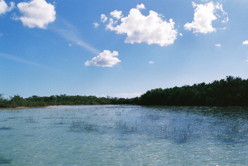 The laguna in Bacalar.