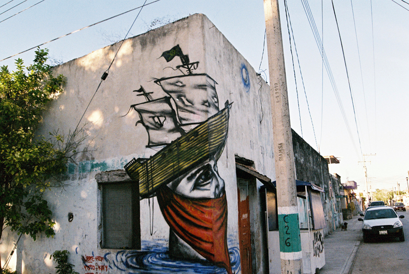 Street art in Bacalar.