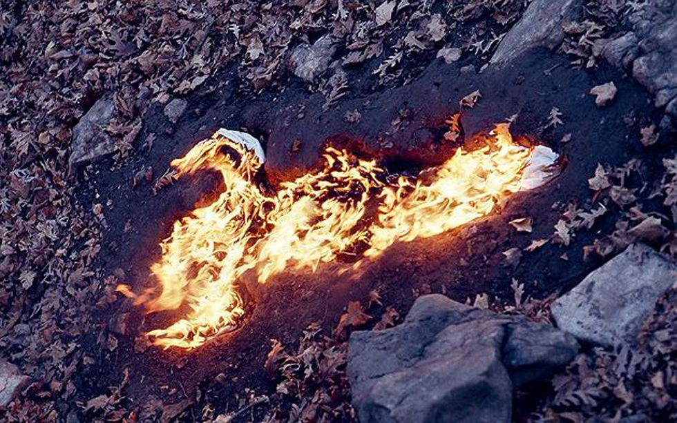 SOUL SILHOUETTE ON FIRE by Ana Mendieta