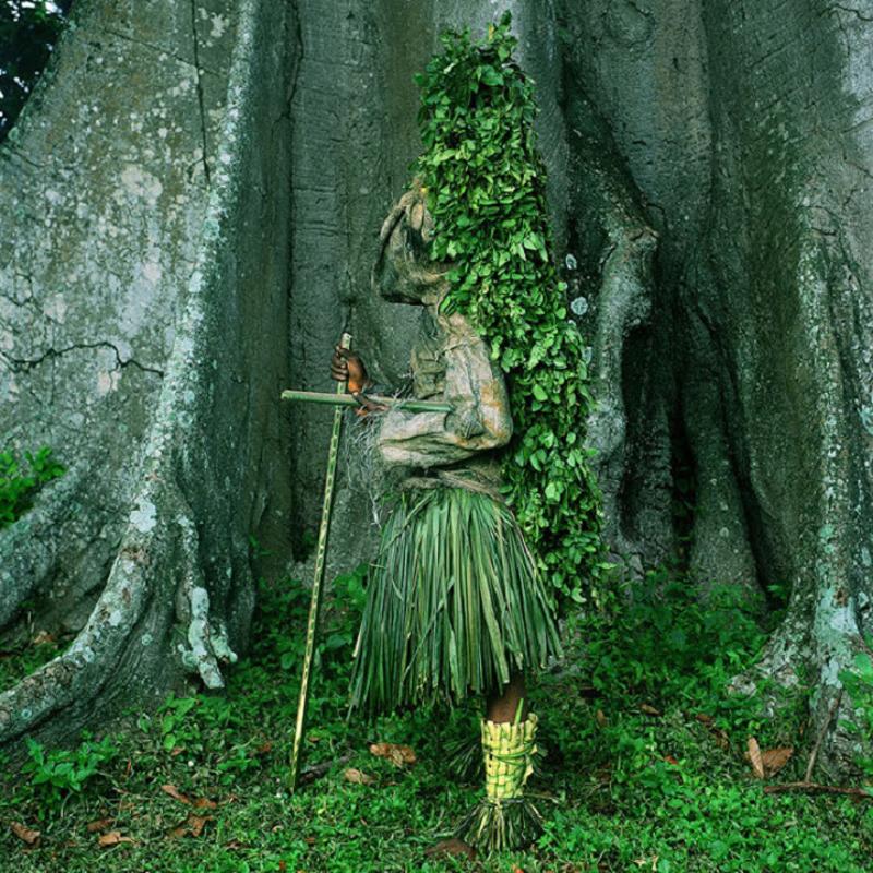 Atam Masquerader, Alok Village, Nigeria, 2004.